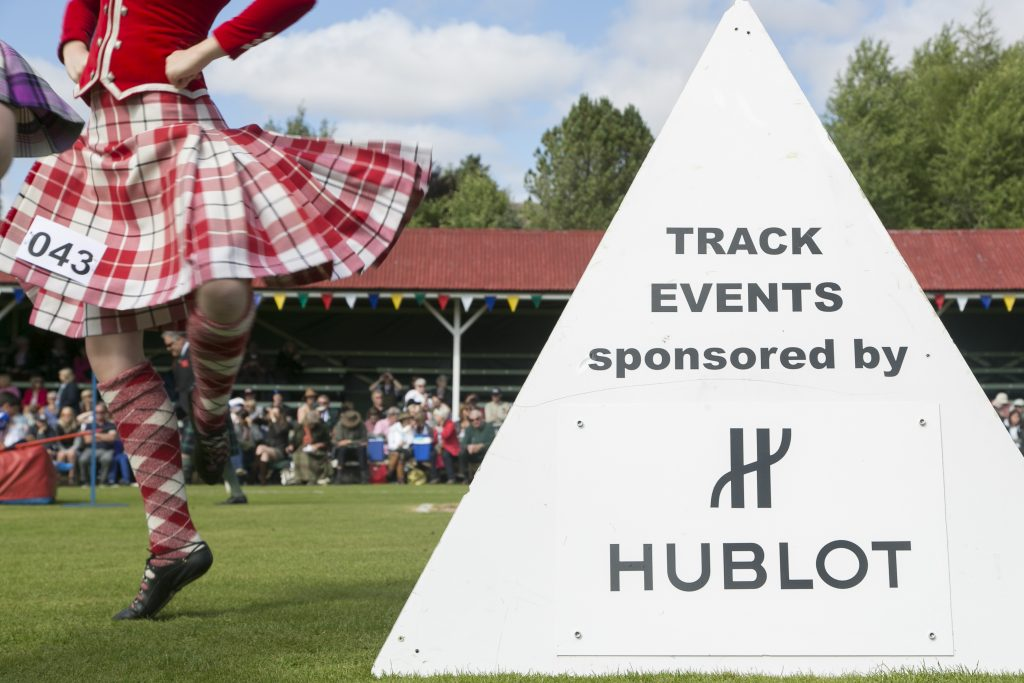 Hublot chronométreur officiel des Highlands Games de Braenar