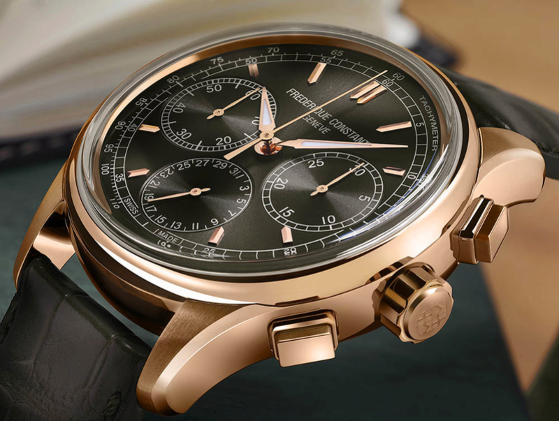 Frederique Constant Flyback Chronograph Manufacture - Cadran anthracite