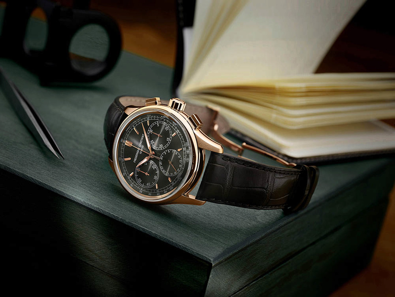 Frederique Constant Flyback Chronograph Manufacture- Plaqué or rose