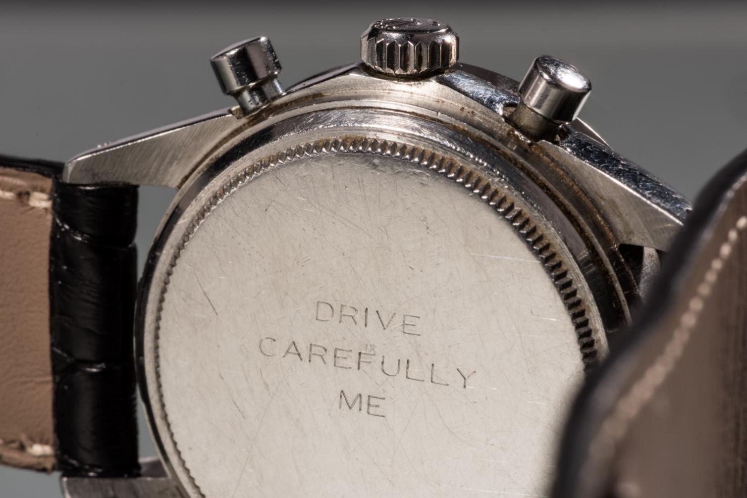 Rolex Daytona Paul Newman avec sa célèbre gravure au dos