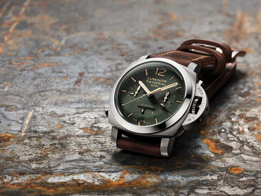 Panerai Luminor 1950 Chrono Monopulsante 8 Days GMT Titanio (44mm)