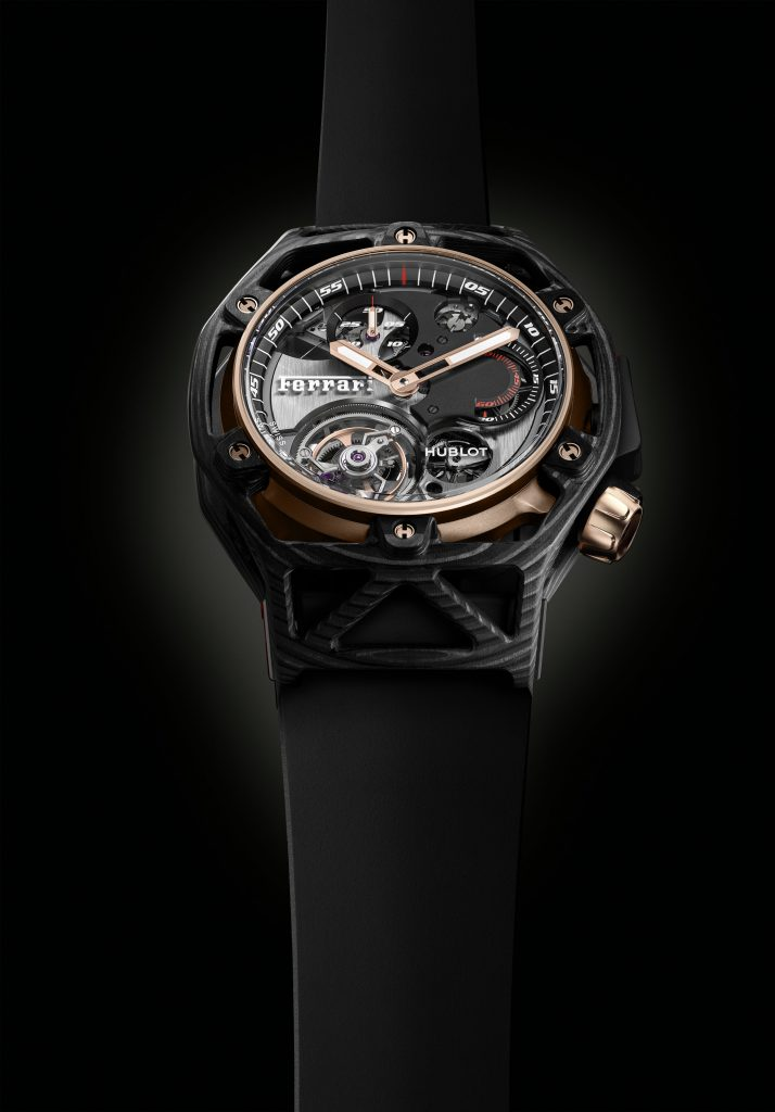 Hublot Techframe Ferrari 70 Years Carbone Peek & King Gold Tourbillon Chronographe