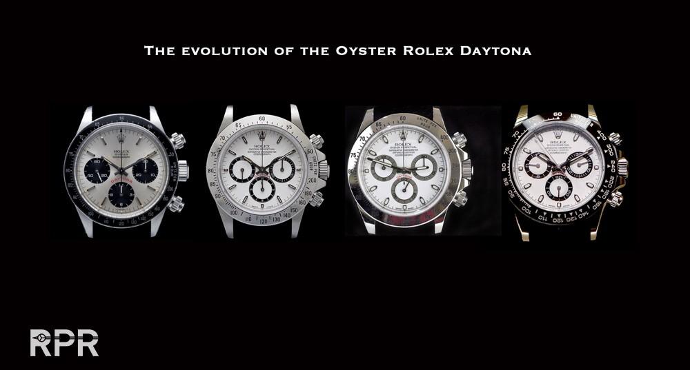 Evolution de la Rolex Daytona - ©Rolexpassionreport