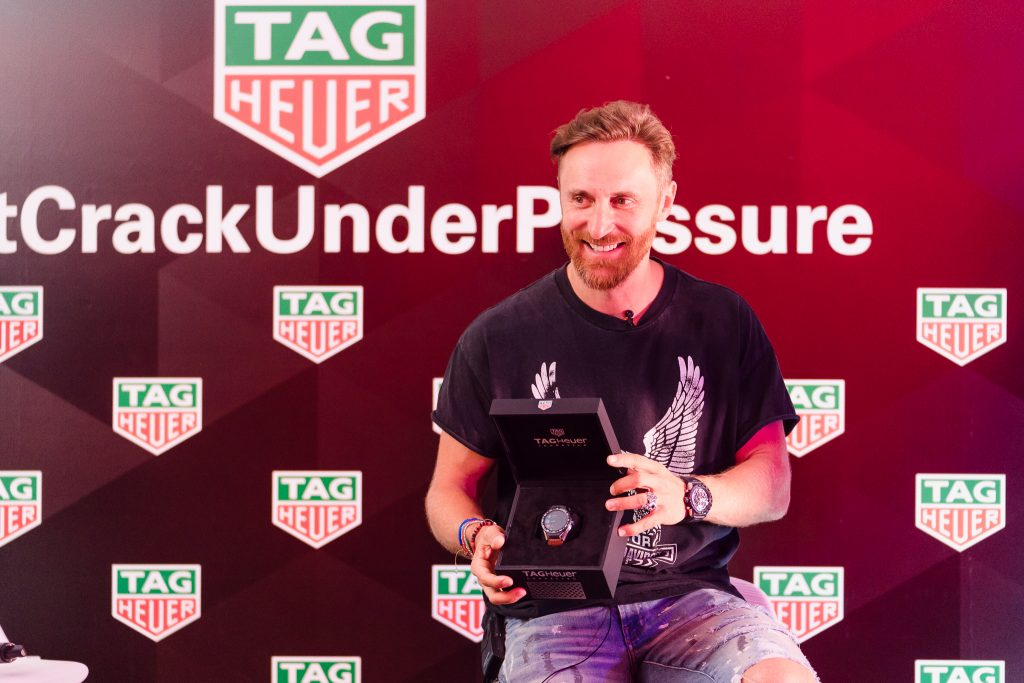 David Guetta et sa TAG Heuer