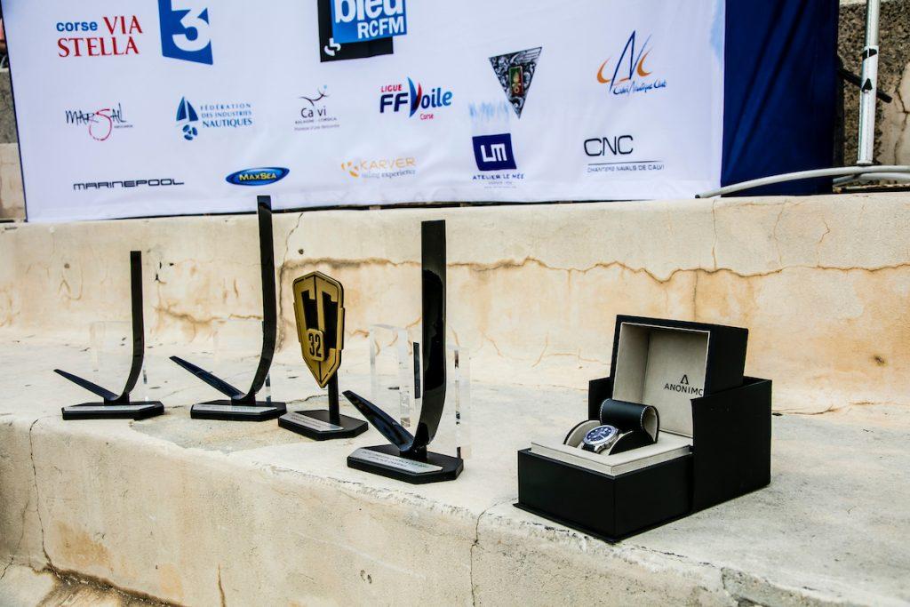 Trophées récompensant chaque vainqueur de l'Anonimo Speed Challenge © Jesús Renedo / GC32 Racing Tour