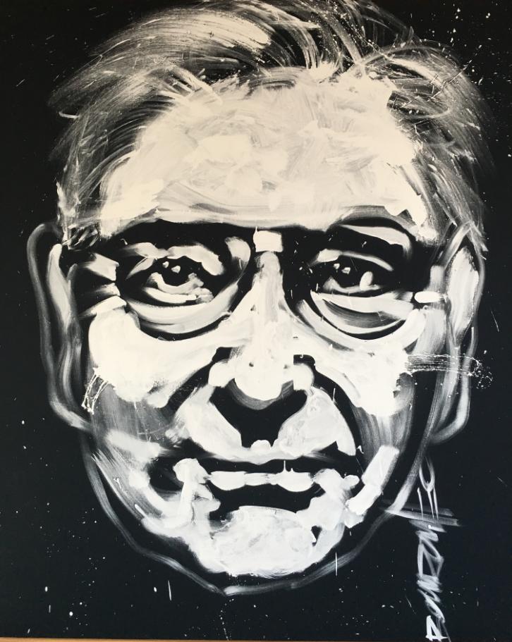 Portrait de Roger Dubuis se trouvant dans l'entrée de la Manufacture