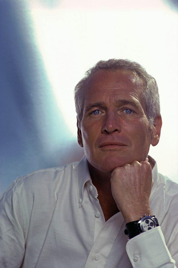 L'acteur américain Paul Newman portant sa Rolex Daytona