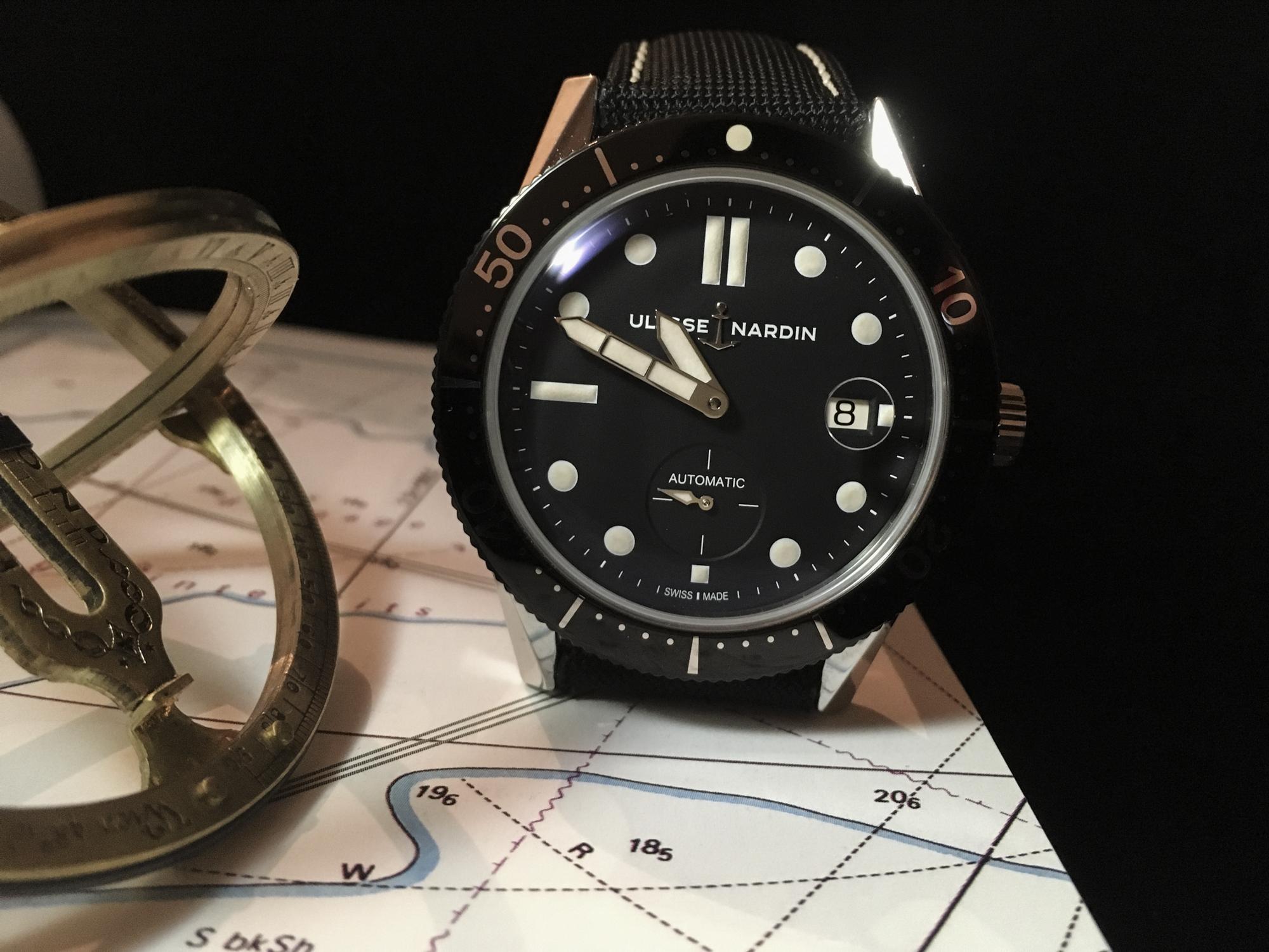 a411f22cf6 Ulysse Nardin Diver Chronometer, une montre de plongée qui a du style