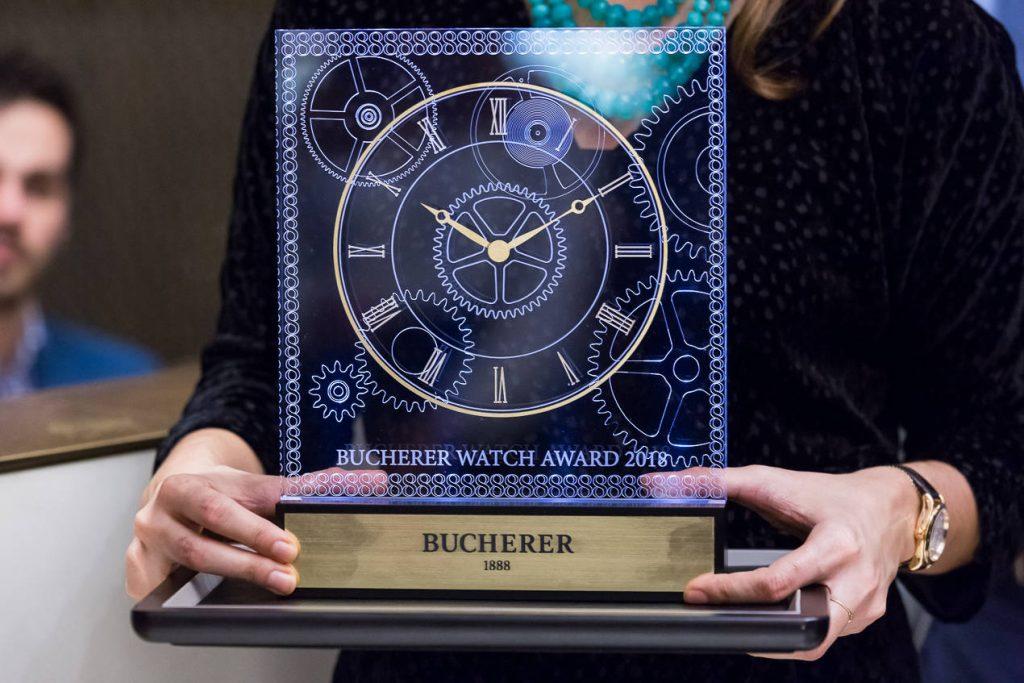 Le trophée du Bucherer Watch Award