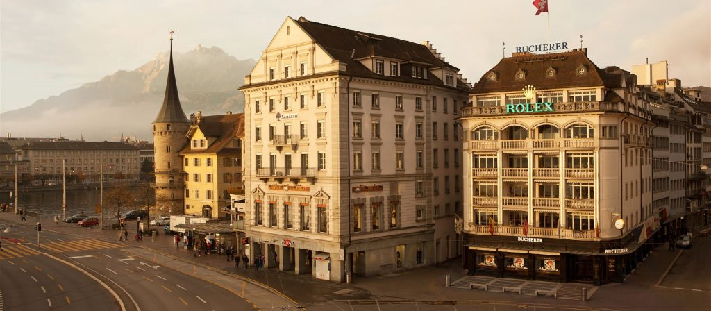 Lucerne est le centre historique du groupe Bucherer