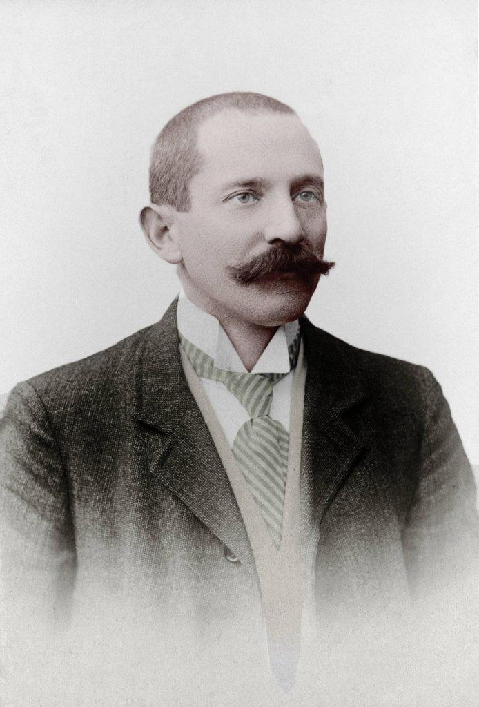 Carl Friedrich Bucherer en 1888, lorsqu'il ouvre la première boutique à Lucerne.