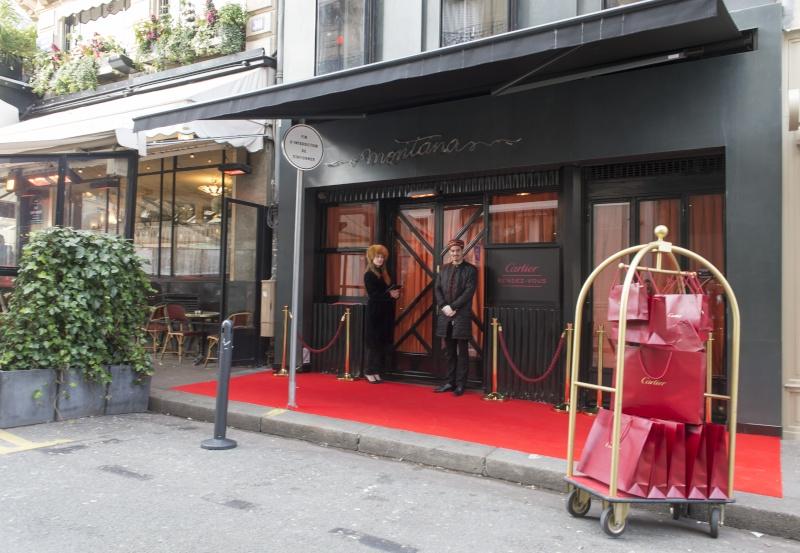 Tout un hôtel aux couleurs de Cartier