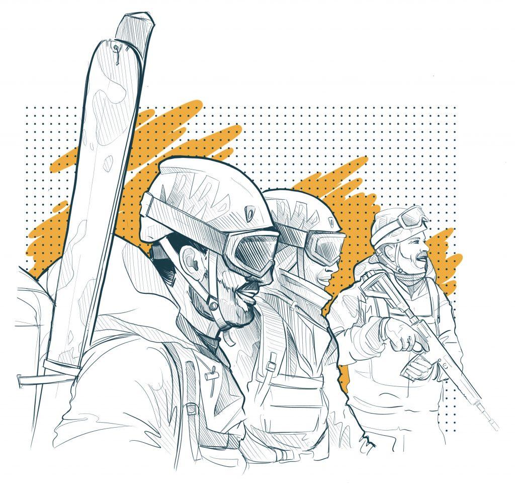 Les troupes de montagne sont à l'initiative de la Chapter II. C'est peut-être pour ça que le concept de personnalisation a été poussé plus loin.