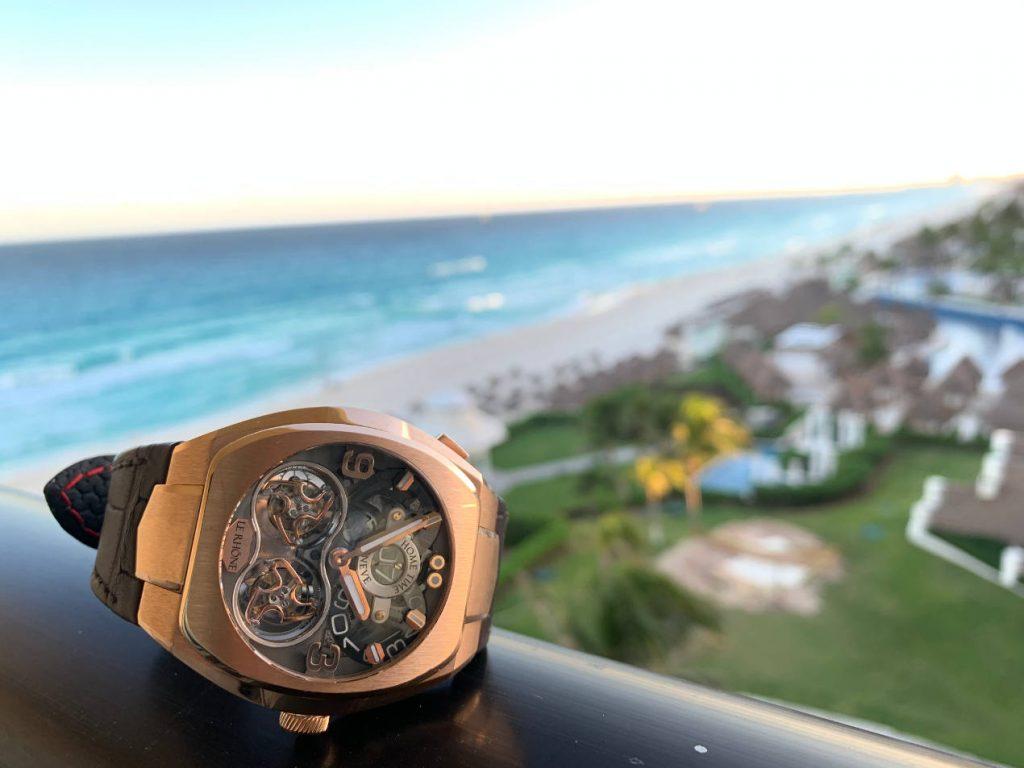Le Rhöne double Tourbillon JMT avec vue sur Cancun