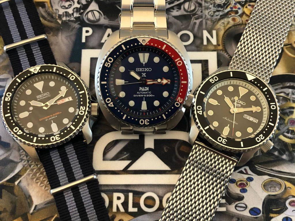 "Parmi les ""must have"" : SKX007, Seiko Turtle, Seiko 5 Sports"