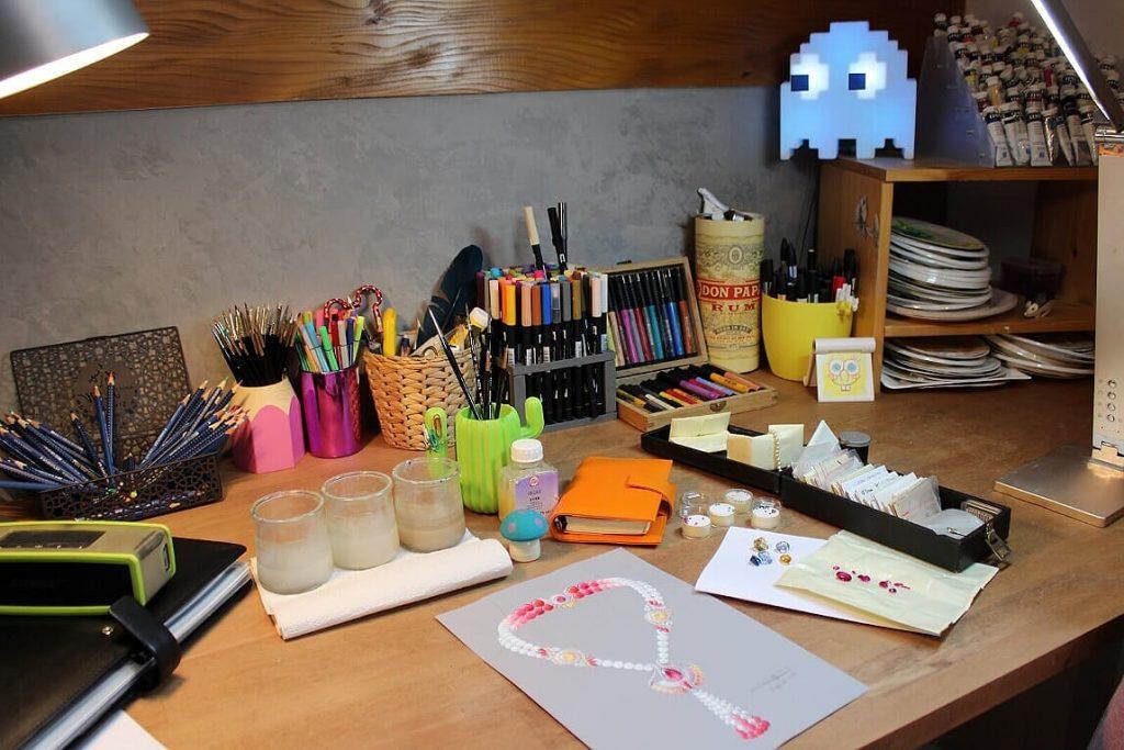 Un atelier de créatrice