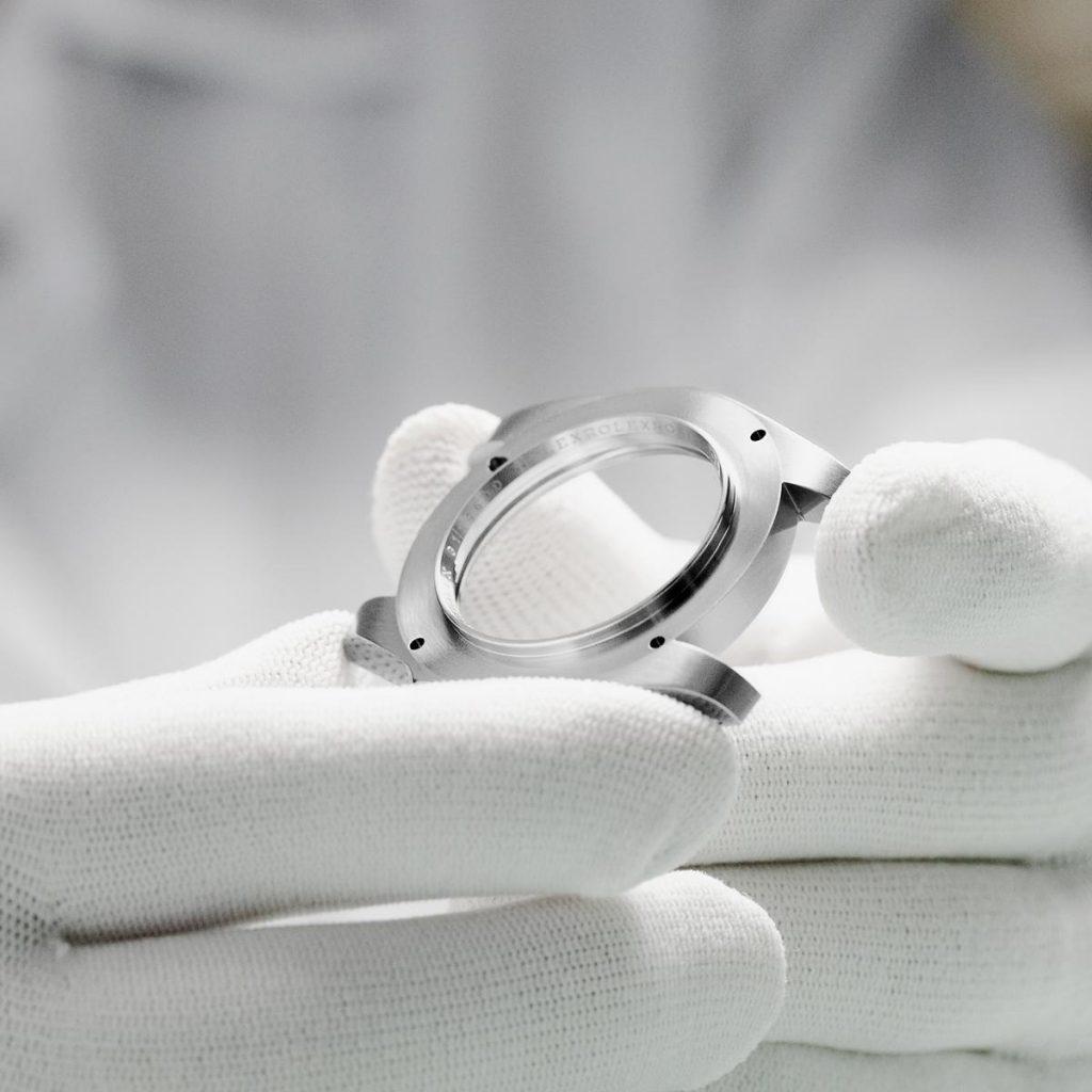 Carrure d'un boîtier de montre Rolex