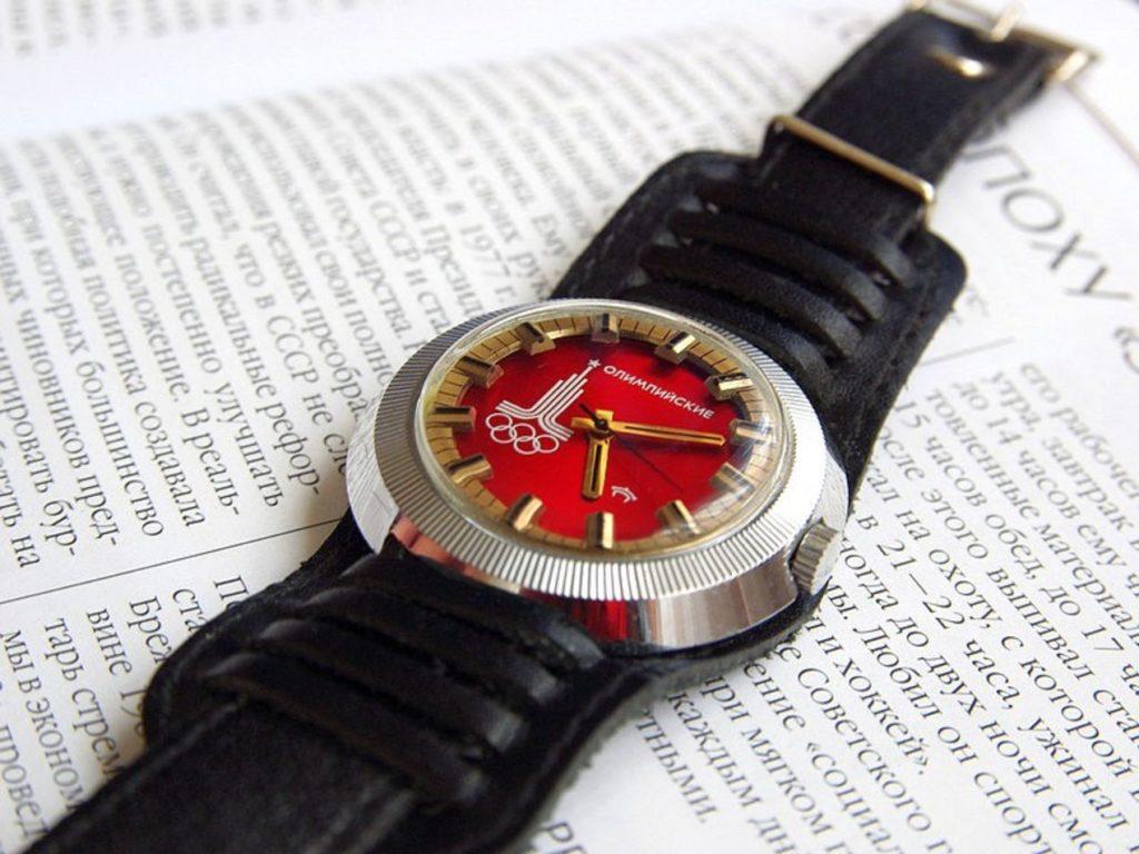 Raketa montre des JO de 1980 - Crédit montresrusses.org