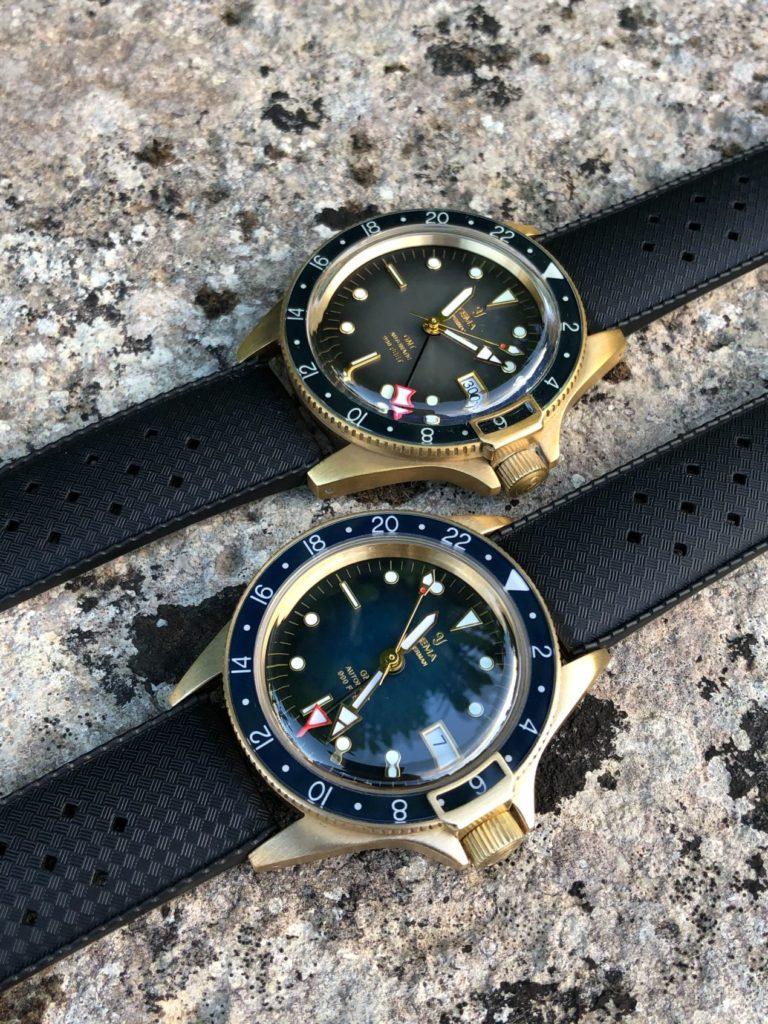 Yema Superman GMT Bronze Black 41mm et Blue 39mm