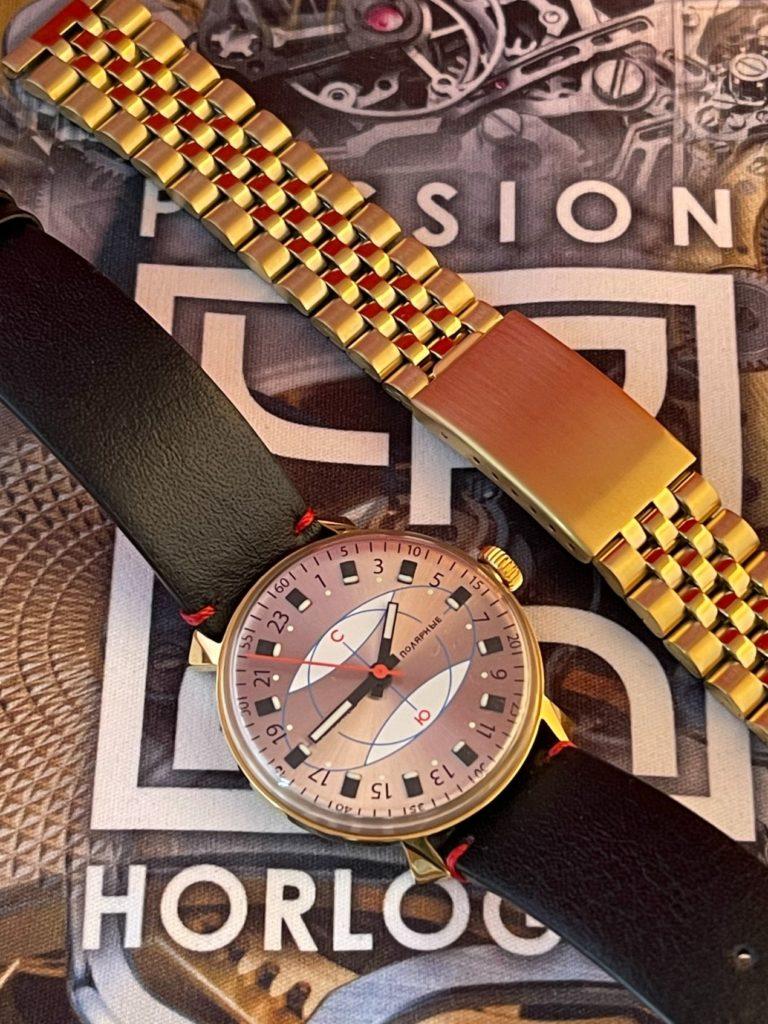 "Bracelet acier de type ""Jubilee"" et Raketa Polar Limited Edition"