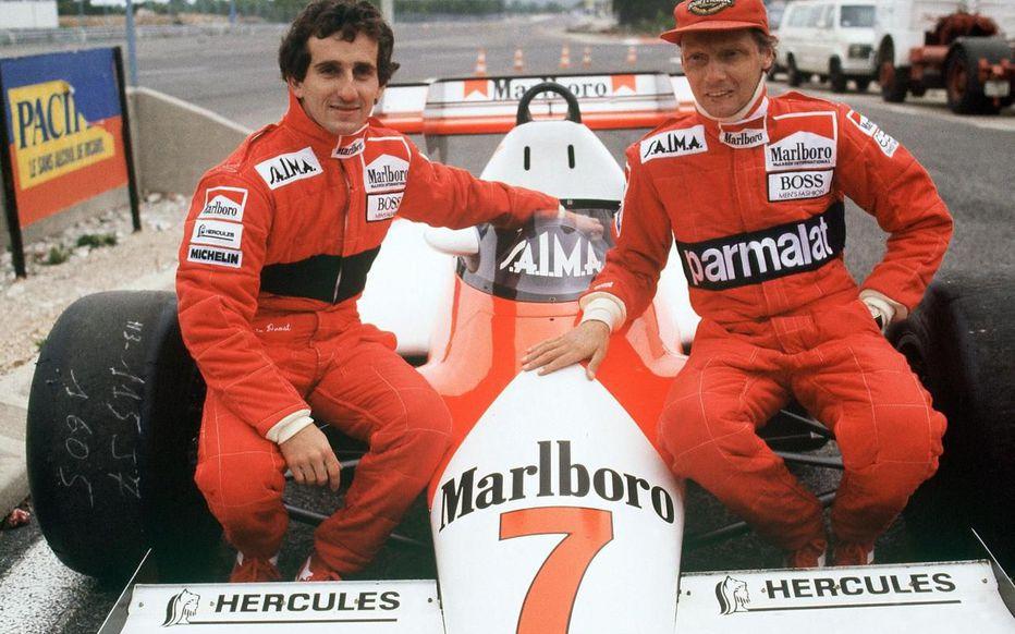 Alain Prost et Niki Lauda, deux immenses pilotes de Formule 1