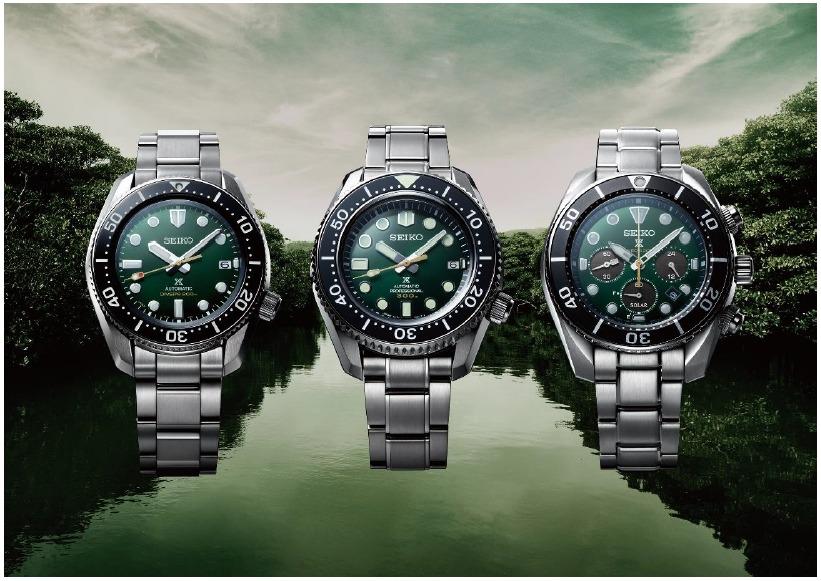 Les montres de plongée Prospex inspirées par l'île d'Iriomote. SPB207, SLA047, SSC807.