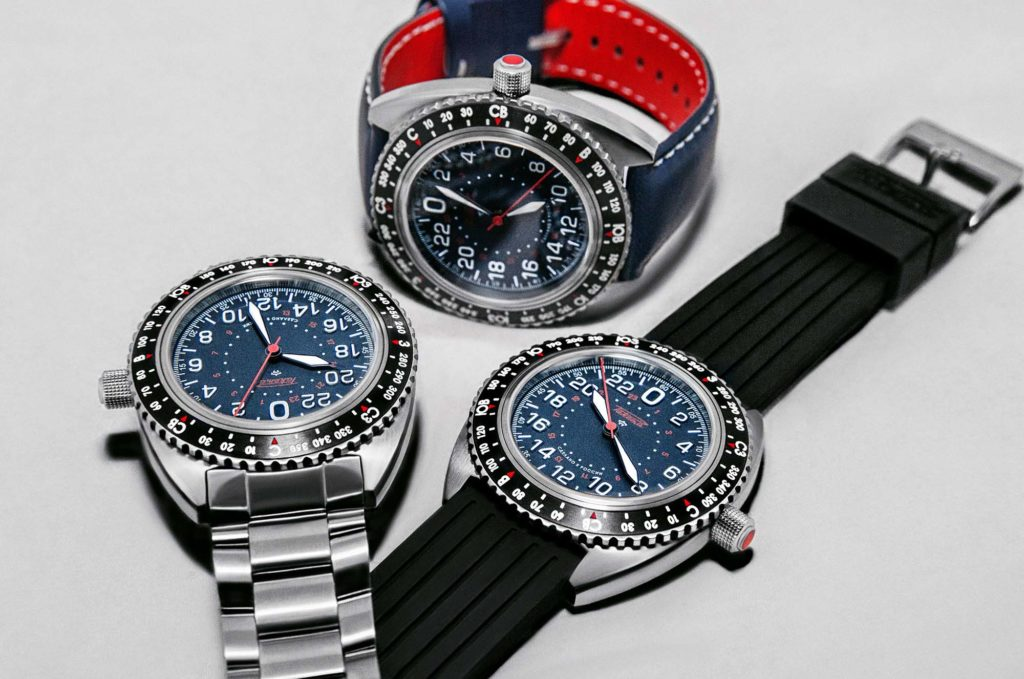 La même montre proposée avec 3 types de bracelets !