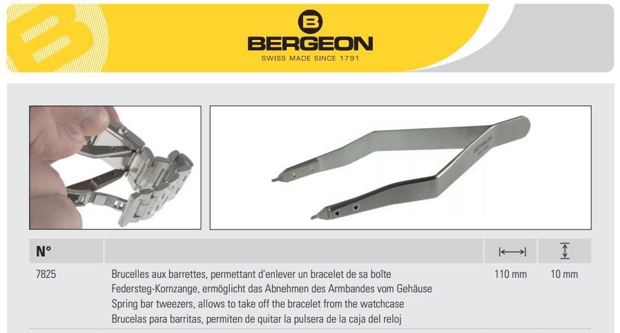 La fameuse pince Bergeon 7825 utilisée par les horlogers Rolex, offerte par Antenen.