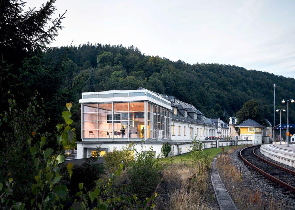 La Manufacture Nomos est située dans l'ancienne gare de Glashütte