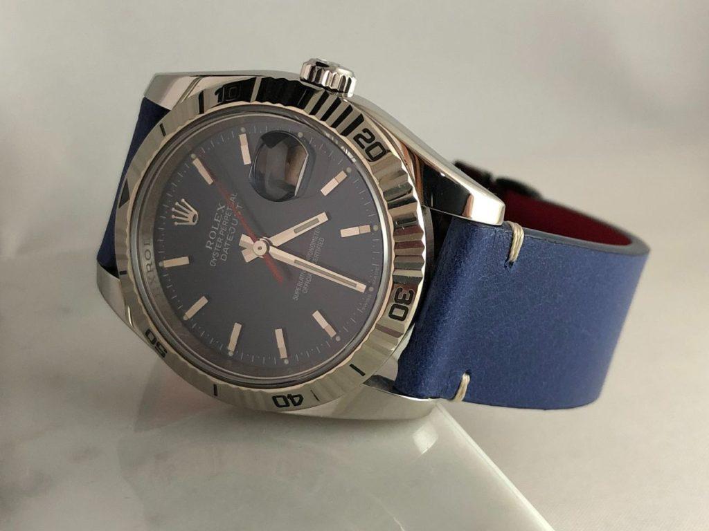 Une association haute en couleurs - Le Bleu sur Rolex Turn-O-Graph