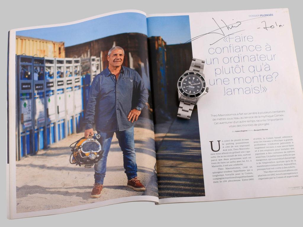 Théo Mavrostomos, l'homme le plus profond avec sa Rolex Sea-dweller au poignet
