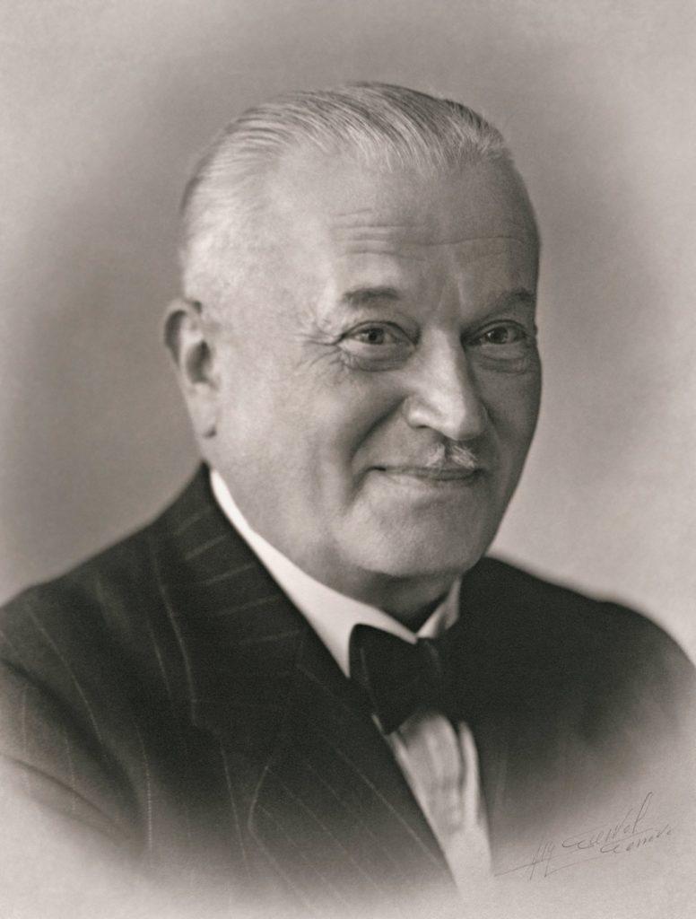 Hans Wilsdorf, fondateur de Rolex. Autour de 1945.